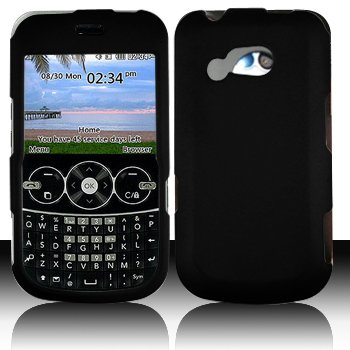 LG 900G for Stright Talk & Net 10 Accessory - Rubber Black Hard Case Proctor Cover