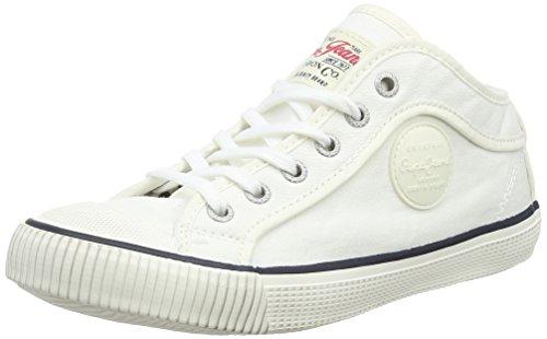 Pepe Jeans  Industry Basic,  Jungen Sneaker , Weiß - Weiß - Blanc (800 White) - Größe: 32