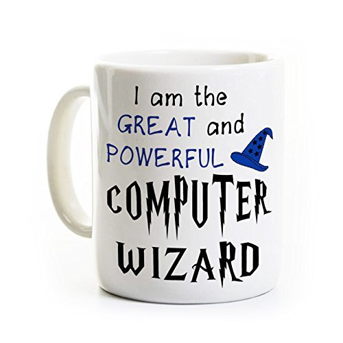 Computer/IT Coffee Mug - I Am The Great and Powerful Computer Wizard - Information Technology Mug
