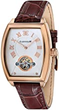 Thomas Earnshaw Robinson Men's Automatic Watch with White Dial Analogue Display and Brown Leather Strap ES-8044-04