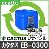 【お預かり再生】 カクタス EB-0300 12V 電池パック セル 詰め替えサービス 1個 【6ヶ月保証付き】 - バッテリー 交換 充電