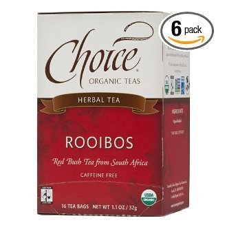 Choice Organic Rooibos, Red Bush Tea, Caffine Free, 16-Count Box (Pack Of 6) front-1052068