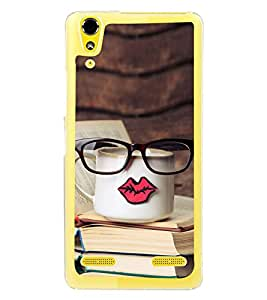 Tea and Books 2D Hard Polycarbonate Designer Back Case Cover for Lenovo A6000 Plus :: Lenovo A6000+ :: Lenovo A6000