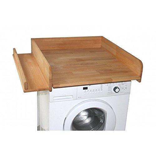 wickeltischaufsatz 60x70cm mit seitlicher ablage buche ge lt wickelaufsatz f r waschmaschine. Black Bedroom Furniture Sets. Home Design Ideas