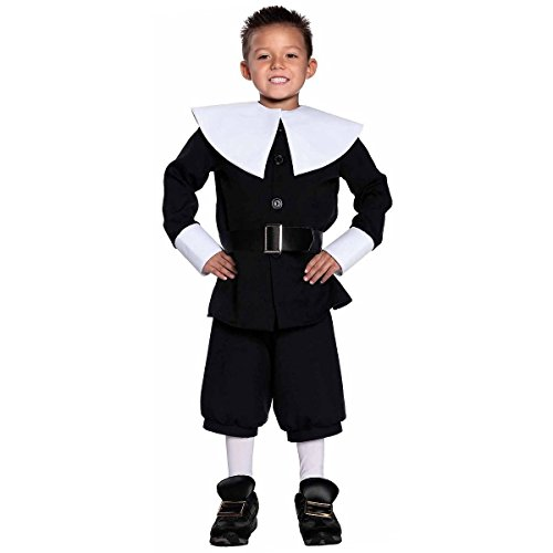 [GSG Pilgrim Costume for Kids Boys Thanksgiving Fancy Dress] (Boy Pilgrim Costumes)