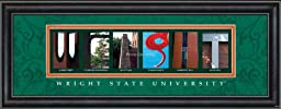 Prints Charming Letter Art Framed Print, Wright State University-Wright, Bold Color Border