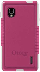 OtterBox 77-24444 Commuter Series Hybrid Case for LG Optimus G LS970 (Sprint) Pink/White
