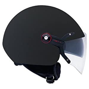 Nexx X60 Vision Flex Soft Open Face Motorcycle Helmet (Black, X-Small) from Nexx