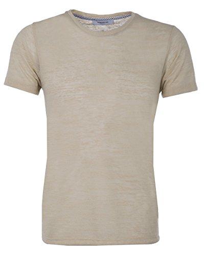 Hamaki-Ho Herren Strick T-shirt Beige