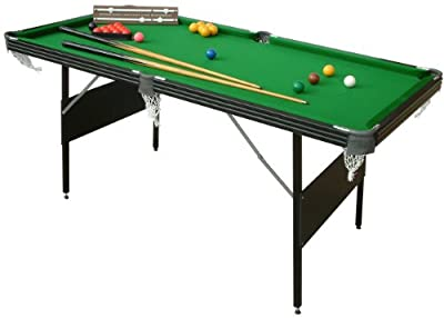 Mightymast Leisure Crucible 2-in-1 Fold Up Snooker/Pool Table - Green, 6 Ft from Mightymast Leisure