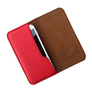 i KitPit : PU Leather Flip Pouch Case Cover For Huawei Ascend G700  RED  available at Amazon for Rs.249