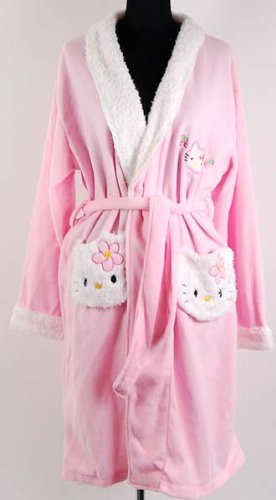 Hello Kitty Baby Pink Bath Robe Bathrobe Fruit