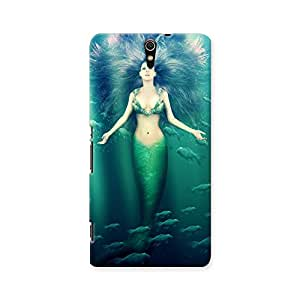 ArtzFolio Mermaid With Fish Tail : Sony Xperia C5 Matte Polycarbonate ORIGINAL BRANDED Mobile Cell Phone Protective BACK CASE COVER Protector : BEST DESIGNER Hard Shockproof Scratch-Proof Accessories