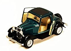 1932 Ford 3 Window Coupe, Green Kinsmart 5332 D 1/34 Scale Diecast Model Toy Car