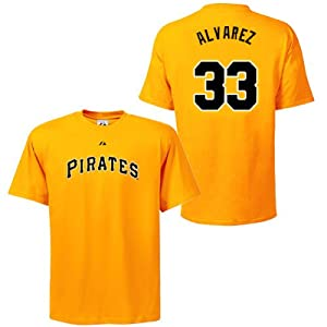 Pedro Alvarez Pittsburgh Pirates Gold Player T-Shirt by Majestic by Majestic