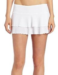 Body Glove Women's Smoothies Lambada Mesh Cover Up Skirt,White,X-Small