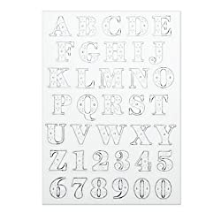 Martha Stewart Crafts Stamp, Clear Ornamental Bodoni Alpha