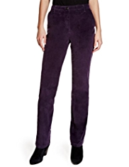 Per Una Roma Cotton Rich Straight Leg Corduroy Trousers
