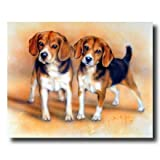 Baby Beagle Puppy Dogs Hunting Animal Picture Art Print Reviews