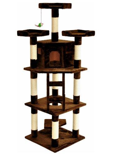 nanook shop stabiler schwerer katzenkratzbaum kratzbaum lisa 3 195 cm hoch mit h hle. Black Bedroom Furniture Sets. Home Design Ideas