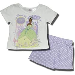 "Disney ""The Princess and the Frog"" 2 piece short set for toddlers"