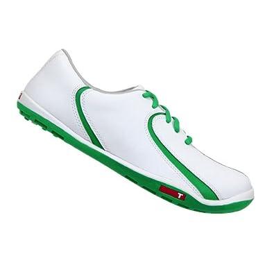 2013 True Linkswear True Isis Womens Golf Shoes - White/Kelly (7)