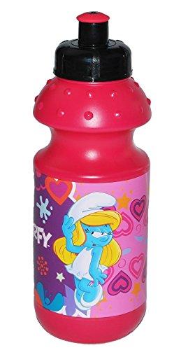 Trinkflasche-Die-Schlmpfe-Schlumpfine-Flasche-fr-550-ml-auslaufsicher-Kunststoff-fr-Mdchen-Schlumpf-Herzen-Plastik-Kinder