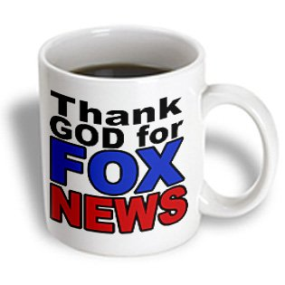 3Drose Thank God For Fox News Republican Conservative Ceramic Mug, 11-Ounce front-382724