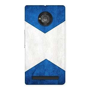 X Fin Blue Back Case Cover for Yu Yunique
