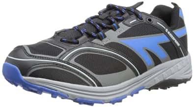 Hi-Tec Chalex Waterproof, Men's Running Shoes, Black/Blue/Grey, 10 UK