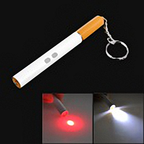 9107 3-In-1 Cigarette Shaped 3Mw Red Laser + Black Ink Ballpoint Pen + White Light Led Pencil Lamp By Ahmet