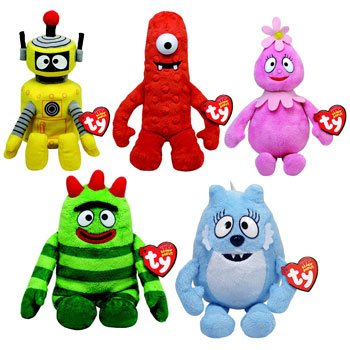 Ty Beanie Babies Yo Gabba Gabba - Set Of 5 back-949199