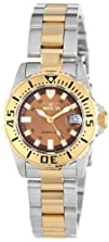 Invicta Womens 14372 Pro Diver Brown Dial Two Tone Stainless