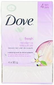 Dove beauty bar, go fresh Rebalance 4 Count 90g
