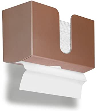 """TrippNT 51916 PETG Dual-Dispensing Paper Towel Holder, 10 7/8"""" Width x 6 1/2"""" Height x 4 1/4"""" Depth, Sparkling Canyon Copper"""
