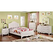 247SHOPATHOME IDF-7940F-6PC Youth Bedroom Set, Full, White