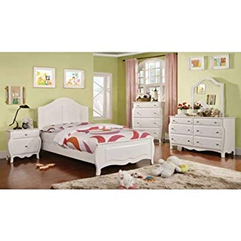 247SHOPATHOME IDF-7940F-6PC Youth Bedroom Set, Full, White