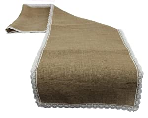 burlap table runner 18 x 100 inch