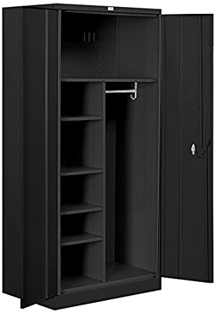 Salsbury Industries Combination Heavy Duty Storage Cabinet, 78-Inch by 24-Inch, Black