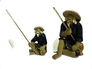 Bonsai Boy's Ceramic Figurine - Mudman Fisherman 1 25x1 25x1 75