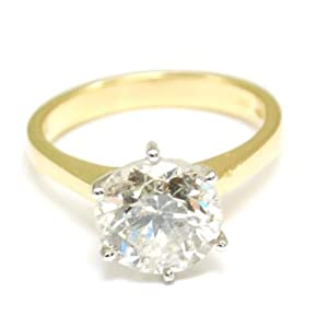 Diamond Ring Engagement Ring 18ct Gold HUGE 4.06ct Size N