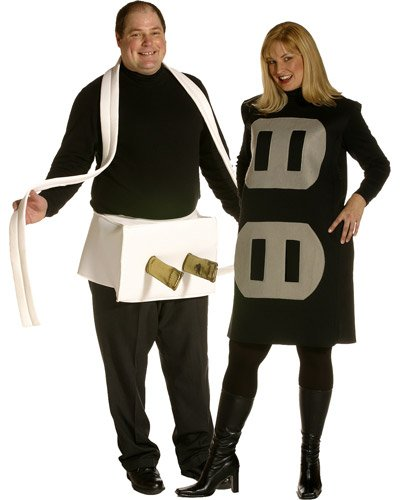 Plug & Socket Couples Halloween Costume Adult Plus Size #8244 ()