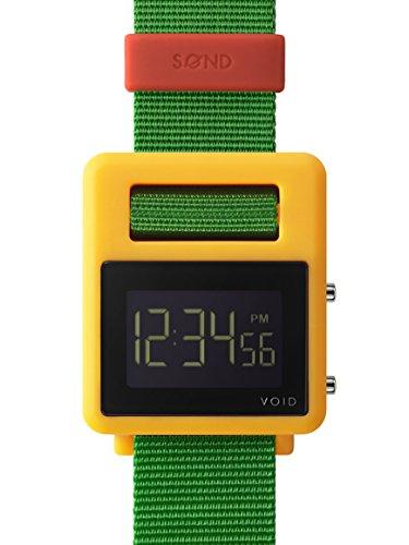 VOID SOND-Orologio, giallo, verde e rosso