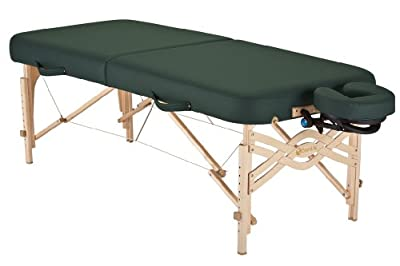 Earthlite Spirit 1/2 Reiki and 1/2 Standard Panel 30-Inch Portable Massage Table Package, Hunter