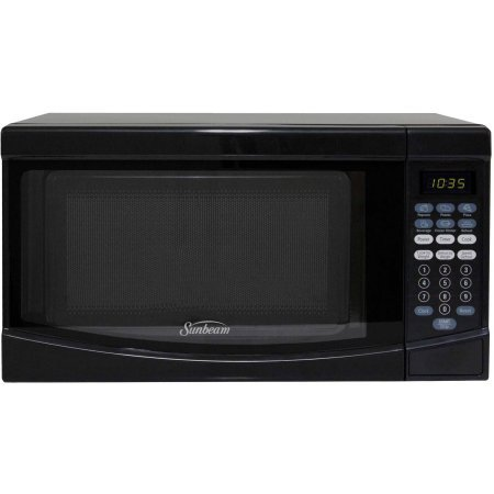 Sunbeam 0.7 CuFt 700 Watt Microwave Oven SGKE702, Black - Digital Timer and Clock (Super Wave Oven Parts compare prices)