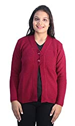 Romano Womens Woolen Sweater(M1561H_XXL_Red_XX-Large)