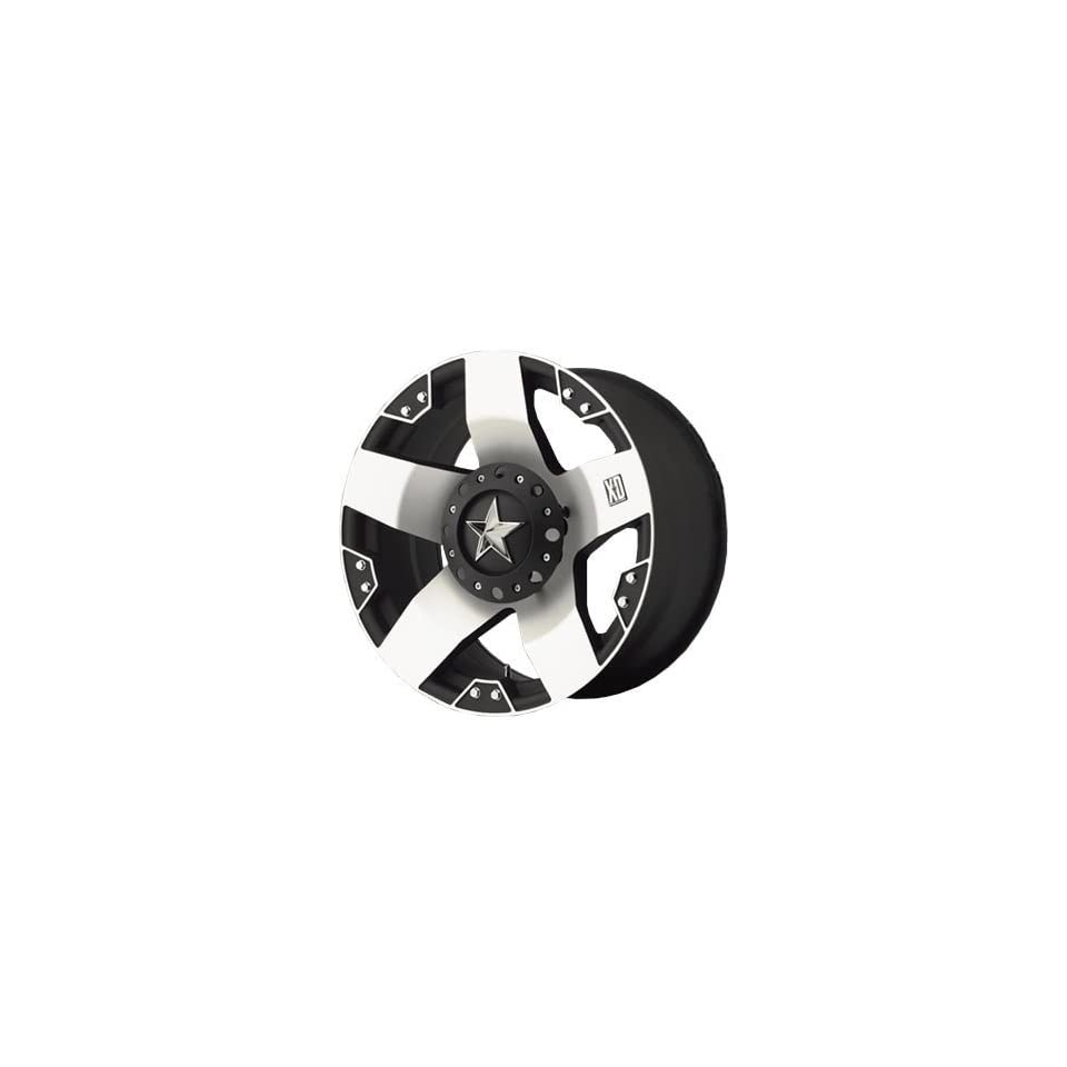 XD XD775 17x8 Machined Black Wheel / Rim 6x135 & 6x5.5 with a 10mm Offset and a 106.25 Hub Bore. Partnumber XD77578067510