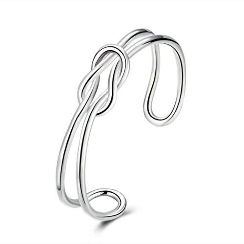 plaque-argent-bracelet-bracelet-charms-des-femmes-argent-surface-lisse-de-noeud-ajoure-epinki