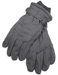Winter Warm-Up - Mens Microfiber Gloves, Grey 28511-X-Large