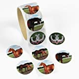 100 Horse Stickers, 1 Roll